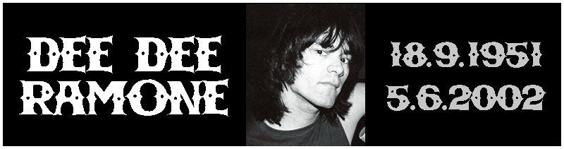 Quindici anni dalla scomparsa di Dee Dee Ramone