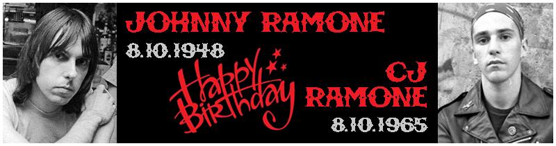Buon compleanno Johnny e Cj Ramone!