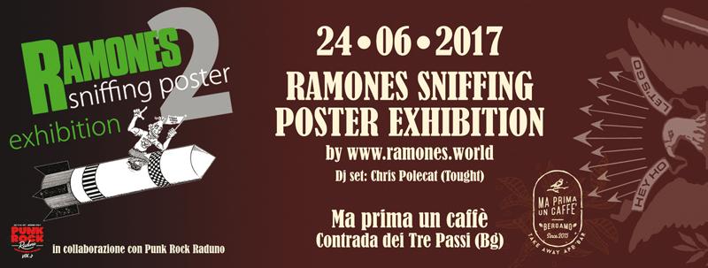 """Al """"Ma prima un caffè"""" di Bergamo esposizione Ramones"""
