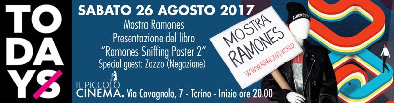 Sabato 26 agosto al Todays mostra Ramones