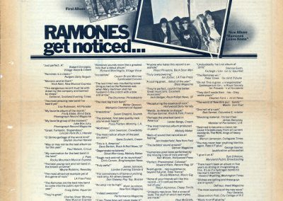 1977 Rolling Stone – Usa – Ramones e Leave Home