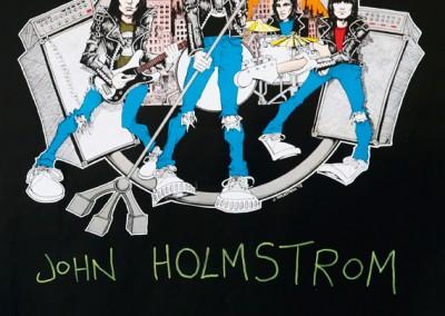 1978 Ramones Road Sire autografato da John Holmstom
