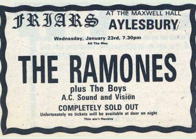 1980 ???? – Uk – Ramones Live A Aylesbury