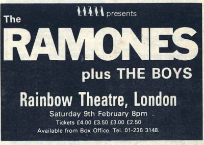 1980 New Musical Express – Uk – Ramones Live A Londra