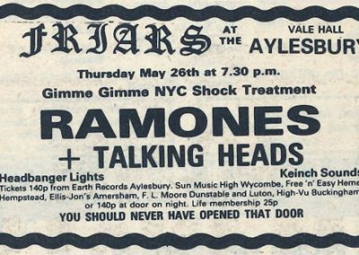 1977 New Musical Express – Uk – Ramones Live A Aylesbury