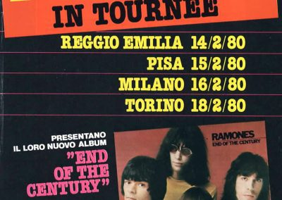 1980 Ciao 2001 – Ita – Ramones Tour + End Of The Century