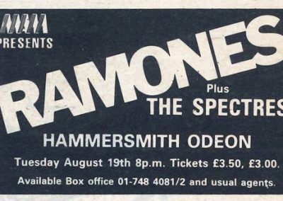 1980 ???? – Uk – Ramones Live A Londra