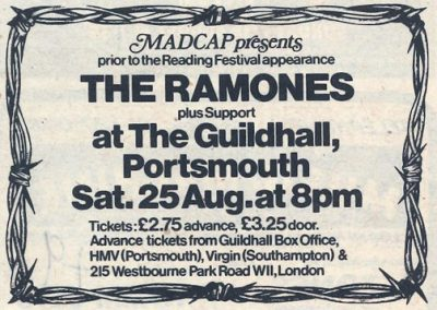 1980 ???? – Uk – Ramones Live A Portsmouth