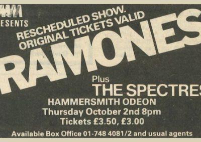 1980 ???? – Uk – Ramones Live A Birmingham