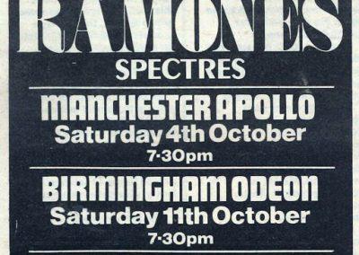 1980 ???? – Uk – Ramones Tour Uk