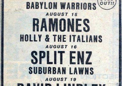 1981 ???? – Usa – Ramones live Perkins Palace