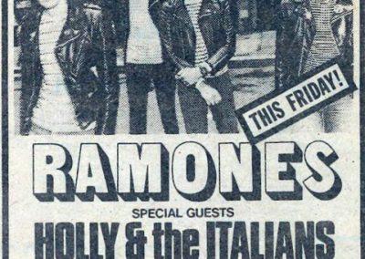 1981 ???? – Usa – Ramones live Palladium questo venerdì