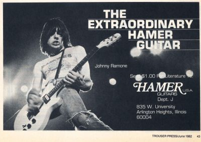 1982 Trouser Press – Usa – Johnny Ramone Hamer Guitars