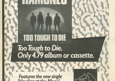 1985 New Musical Express – Uk – Ramones Too Tough To Die