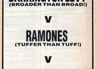 1985 New Musical Express – Uk – Ramones Tuffer than tuff!