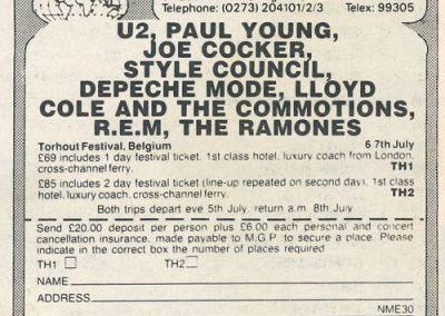1985 ???? – Belgio – Ramones Torhout Festival