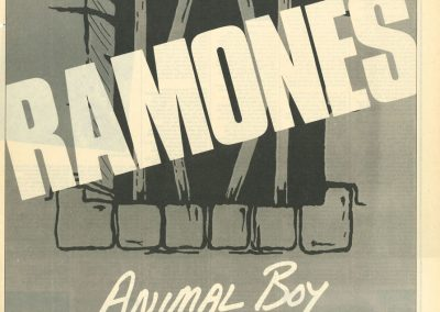 1986 Melody Maker – Uk – Ramones Animal Boy