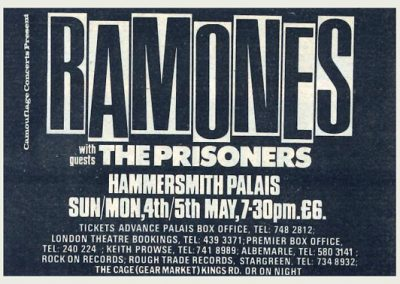 1986 New Musical Express – Uk – Live Ramones A Londra