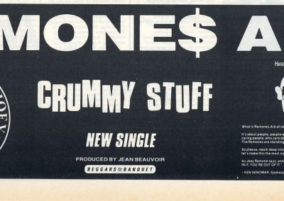 1986 Melody Maker – Uk – Ramones 12″ e 7″ Crummy Stuff