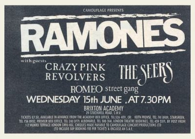 1988 New Musical Express – Uk – Ramones Live A Londra