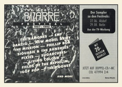 1992 ???? – Ger – The Bizarre Festival Doppio Cd
