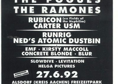 1992 Rock World – Ger – Ramones Live Bizarre Festival