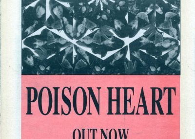 1992 New Musical Express – Uk – Poison Heart 7″ e 12″ + Tour Uk