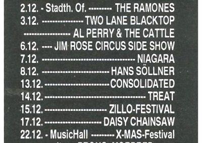 1992 Zillo – Ger – Ramones Live A Francoforte
