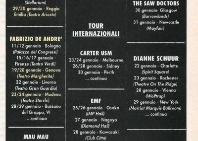 1993 Tuttifrutti – Ita – Ramones tour Giappone