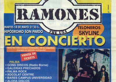 1993 Ideas – Spa – Ramones Live A Palma Di Maiorca