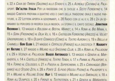 1993 Ciao 2001 – Ita – Ramones tour italiano