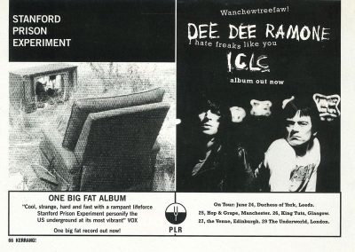 1994 Kerrang – Uk – Dee Dee Iclc + Tour Uk