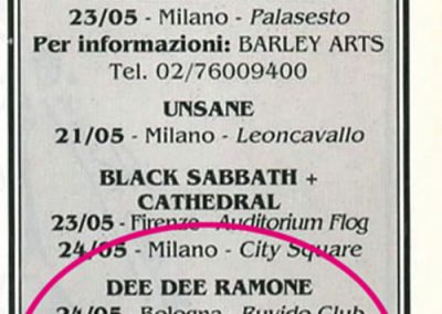 1994 Flash – Ita – Tour Dee Dee Ramone