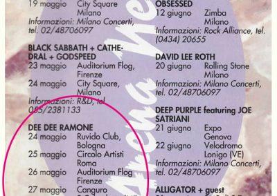 1994 Metal Hammer – Ita – Tour Dee Dee Ramone