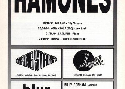 1994 Rumore – Ita – Ramones Tour Italy