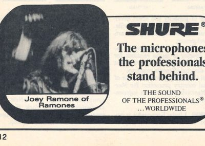 1995 ???? – Usa – Joey Ramone Microfoni Shure