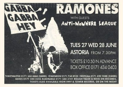 1995 ???? – Uk – Ramones live Astoria