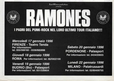 1995 Rockerilla – Ita – Ramones Ultimo Tour Italiano