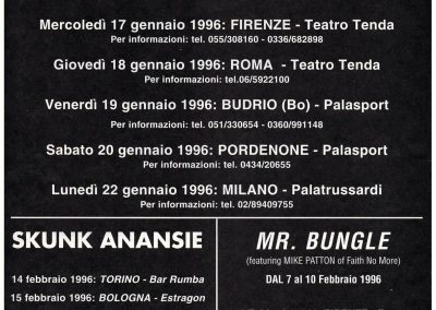 1996 Rumore – Ita – Ultimo tour dei Ramones in Italia