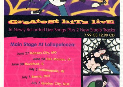1996 Pulse1 – Usa – Greatest hits live + tour
