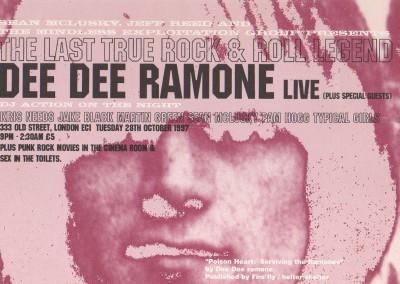 Dee Dee Ramone live