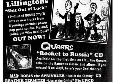 1998 Ox – Ger – The Queers Rocket To Russia