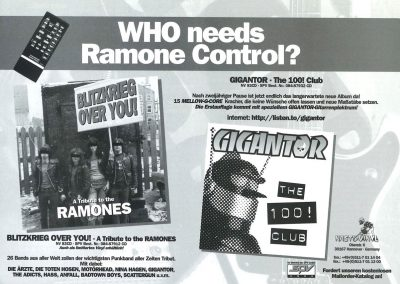 1998 Access! – Ger – Blitzkrieg Over You Tributo Ramones