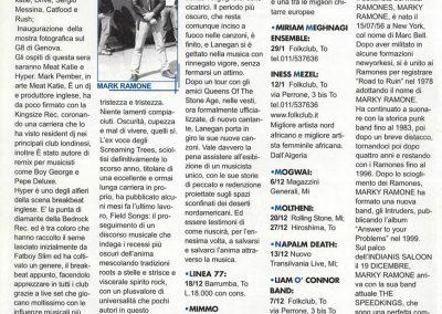 2001 News Spettacolo Torino – Ita – Live Marky Ramone