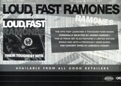 2003 Record Collector – Uk – Loud, Fast Ramones