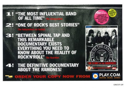 "2005 Uncut – Uk – Dvd ""End of the century"" play.com"