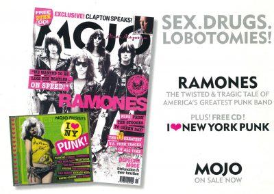 2005 Mojo – Uk – Mojo con copertina Ramones