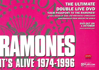 2007 Mojo – Uk – Dvd It's Alive 1974-1996 Play.com