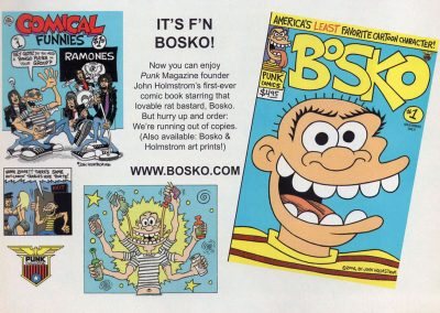 2007 Punk Magazine – Usa – Comical Funnies Bosko