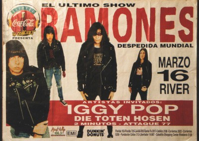 RMB poster ultimo show Argentina 1996